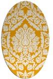 rug #421433 | oval light-orange damask rug