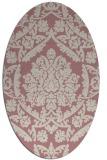rug #421437 | oval pink traditional rug