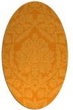 rug #421441 | oval light-orange damask rug