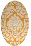 rug #421445 | oval white traditional rug