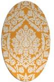 rug #421445 | oval light-orange damask rug