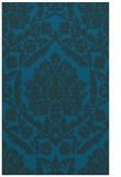 rug #421529 |  blue-green damask rug