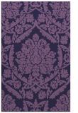 rug #421545 |  purple damask rug