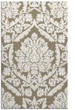 rug #421589 |  mid-brown damask rug