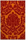 rug #421637 |  orange damask rug