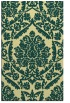 rug #421653 |  yellow damask rug