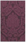 rug #421673 |  purple damask rug