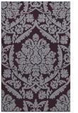 rug #421685 |  purple damask rug