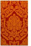 rug #421693    orange damask rug