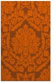 rug #421713 |  red-orange damask rug
