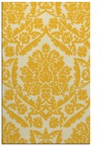 rug #421737 |  yellow damask rug