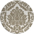 rug #421801   round beige damask rug