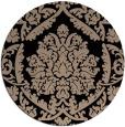 rug #421813   round beige damask rug