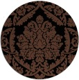 rug #421817 | round black traditional rug