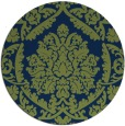 rug #421837   round blue damask rug