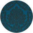 rug #421881 | round blue traditional rug