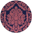 rug #421893 | round pink traditional rug