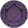 rug #421897 | round purple traditional rug
