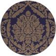 rug #421909 | round beige damask rug