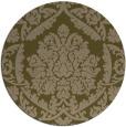 rug #421921 | round mid-brown damask rug