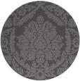 rug #421949 | round mid-brown rug