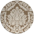 rug #421953 | round mid-brown damask rug