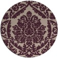 rug #421957 | round pink traditional rug