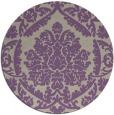 rug #421981   round beige damask rug