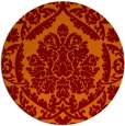 rug #421989 | round red-orange traditional rug