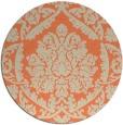 rug #421997 | round orange damask rug