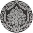 rug #422001 | round orange damask rug