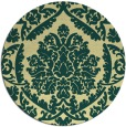 rug #422005   round yellow traditional rug