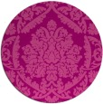 rug #422009   round pink traditional rug