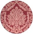 rug #422017   round pink damask rug