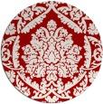 rug #422041 | round red damask rug