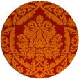 rug #422045 | round orange traditional rug