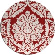 rug #422049 | round red damask rug