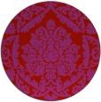 rug #422053 | round red damask rug