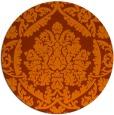 rug #422057 | round red-orange rug