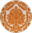 rug #422069   round red-orange traditional rug
