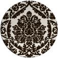 rug #422097 | round brown damask rug