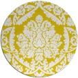 rug #422101   round yellow traditional rug