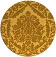 rug #422105 | round light-orange damask rug