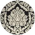 rug #422109 | round black traditional rug