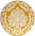 rug #422137 | round light-orange traditional rug