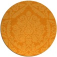 rug #422145 | round light-orange damask rug