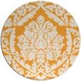 rug #422149 | round light-orange damask rug