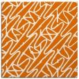 rug #424457 | square orange graphic rug
