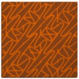 rug #424529 | square red-orange abstract rug