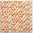 rug #424533 | square red-orange graphic rug